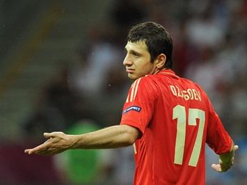ITAR-TASS: WARSAW, POLAND. JUNE 16, 2012. Russia's Alan Dzagoev seen during a Euro 2012 Group A football match against Greece at National Stadium. Greece won the game 1:0. (Photo ITAR-TASS / Valery Sharifulin)  Ïîëüøà. Âàðøàâà. 16 èþíÿ. Èãðîê ñáîðíîé Ðîññèè Àëàí Äçàãîåâ â ìàò÷å ãðóïïîâîãî ýòàïà ÷åìïèîíàòà Åâðîïû ïî ôóòáîëó: Ãðåöèÿ – Ðîññèÿ – 1:0. Ôîòî ÈÒÀÐ-ÒÀÑÑ/ Âàëåðèé Øàðèôóëèí